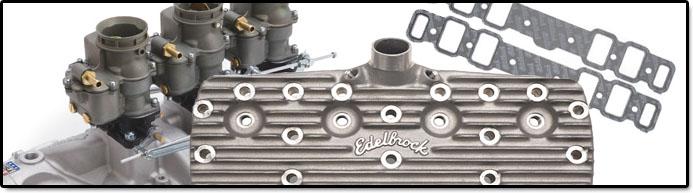 Edelbrock Flat Head Ford V8 Peformance Cylinder heads, intake